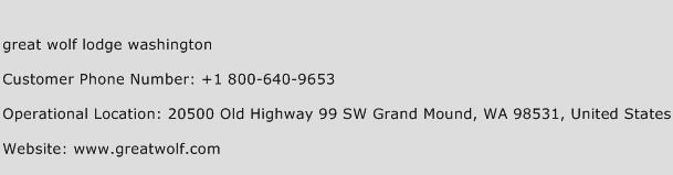 Great Wolf Lodge Washington Phone Number Customer Service