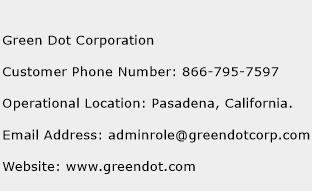 Green Dot Corporation Phone Number Customer Service