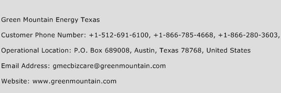 Green Mountain Energy Texas Phone Number Customer Service