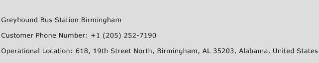 Greyhound Bus Station Birmingham Phone Number Customer Service
