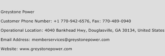 Greystone Power Phone Number Customer Service