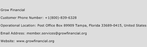 Grow Financial Phone Number Customer Service