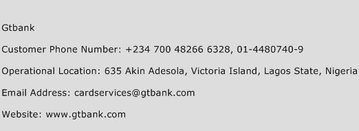 Gtbank Phone Number Customer Service