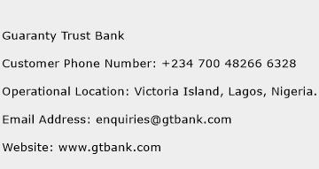 Guaranty Trust Bank Phone Number Customer Service