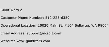 Guild Wars 2 Phone Number Customer Service