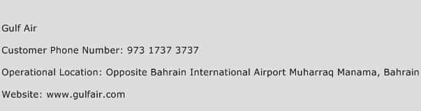 Gulf Air Phone Number Customer Service