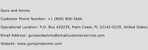 Guns and Ammo Phone Number Customer Service