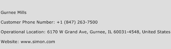 Gurnee Mills Phone Number Customer Service