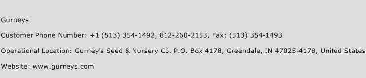 Gurneys Phone Number Customer Service
