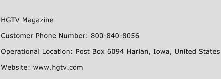 HGTV Magazine Phone Number Customer Service