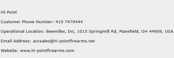HI Point Phone Number Customer Service