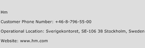 HM Phone Number Customer Service