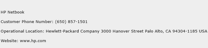 HP Netbook Phone Number Customer Service