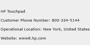 HP Touchpad Phone Number Customer Service