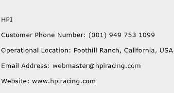 HPI Phone Number Customer Service