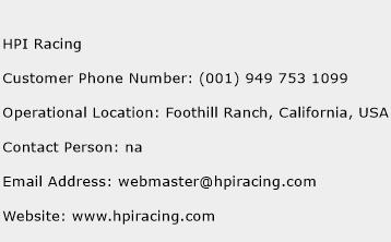 HPI Racing Phone Number Customer Service