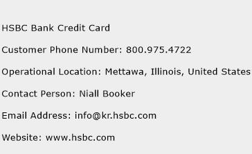 HSBC Bank Credit Card Phone Number Customer Service
