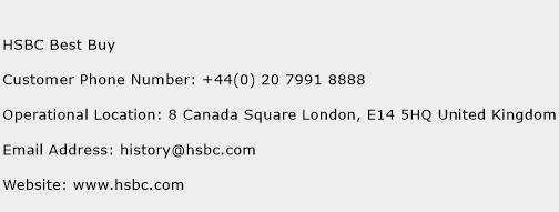 HSBC Best Buy Phone Number Customer Service