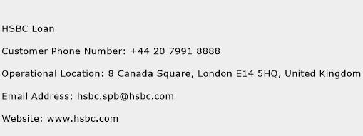 HSBC Loan Phone Number Customer Service
