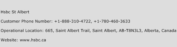 HSBC St Albert Phone Number Customer Service