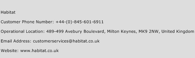 Habitat Phone Number Customer Service