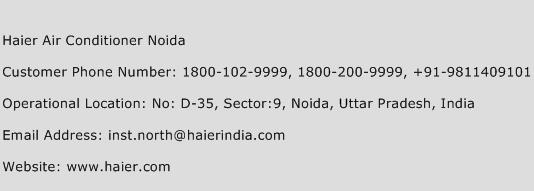 Haier Air Conditioner Noida Phone Number Customer Service