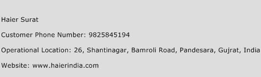 Haier Surat Phone Number Customer Service