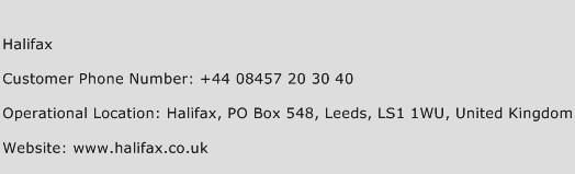 Halifax Phone Number Customer Service