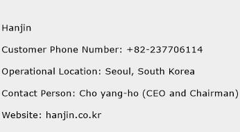 Hanjin Phone Number Customer Service