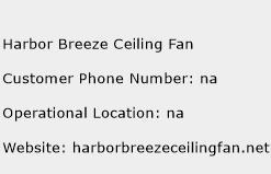 Harbor Breeze Ceiling Fan Phone Number Customer Service