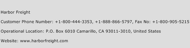 Harbor Freight Phone Number Customer Service