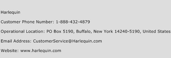 Harlequin Phone Number Customer Service