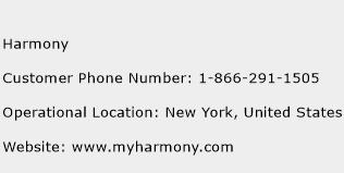 Harmony Phone Number Customer Service