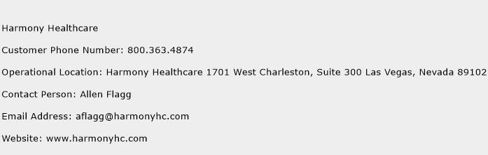 Harmony Healthcare Phone Number Customer Service