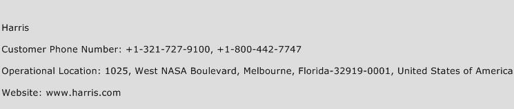 Harris Phone Number Customer Service