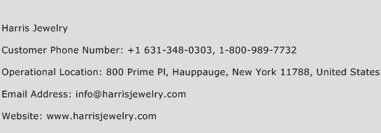 Harris Jewelry Phone Number Customer Service