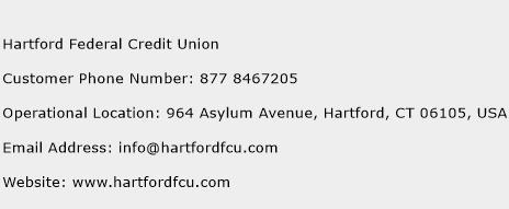 Hartford Federal Credit Union Phone Number Customer Service