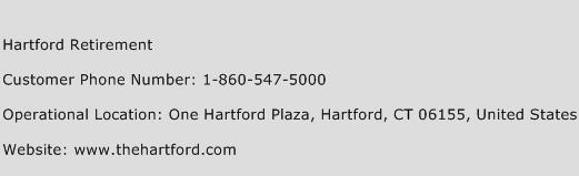 Hartford Retirement Phone Number Customer Service