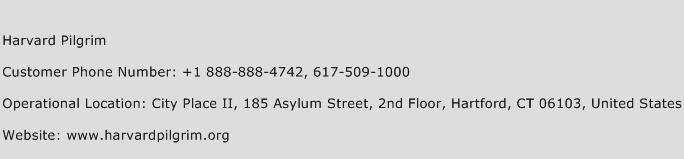 Harvard Pilgrim Phone Number Customer Service