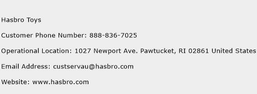 Hasbro Toys Phone Number Customer Service