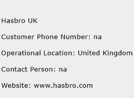 Hasbro UK Phone Number Customer Service