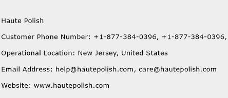 Haute Polish Phone Number Customer Service