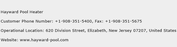Hayward Pool Heater Phone Number Customer Service