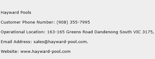 Hayward Pools Phone Number Customer Service