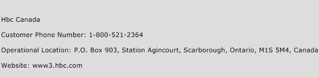 Hbc Canada Phone Number Customer Service