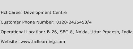 Hcl Career Development Centre Phone Number Customer Service