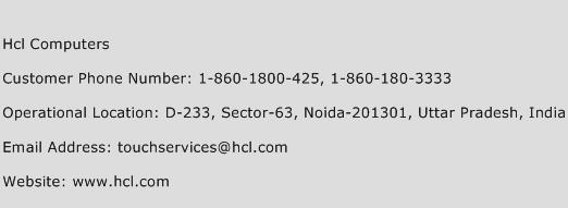 Hcl Computers Phone Number Customer Service