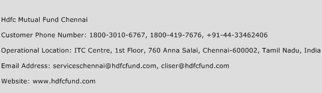 Hdfc Mutual Fund Chennai Phone Number Customer Service