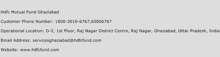 Hdfc Mutual Fund Ghaziabad Phone Number Customer Service
