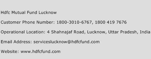 Hdfc Mutual Fund Lucknow Phone Number Customer Service